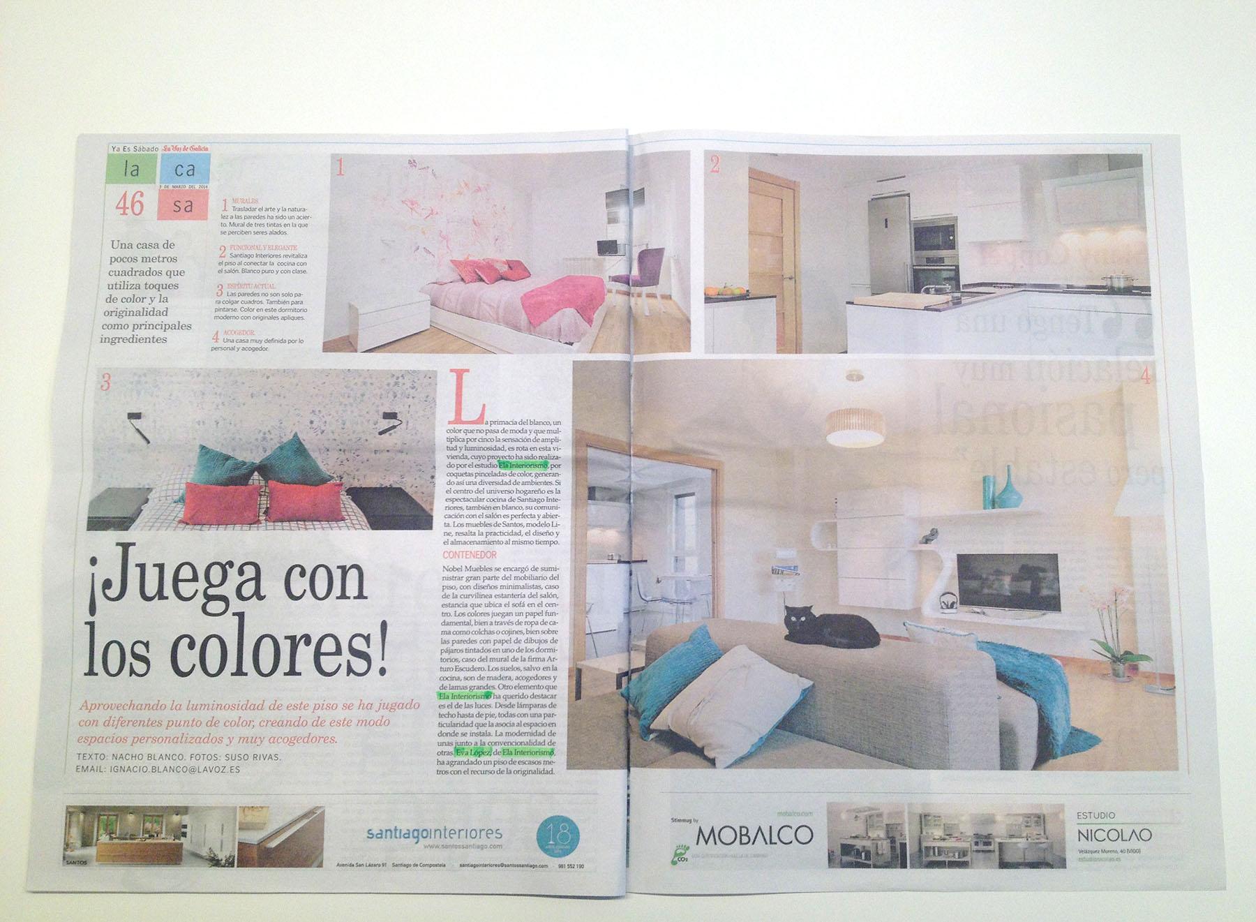 Ela Interiorismo Interiorismo Interiorista En Galicia  # Muebles Nobel Santiago De Compostela